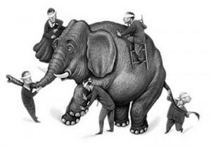 Blinden en olifant