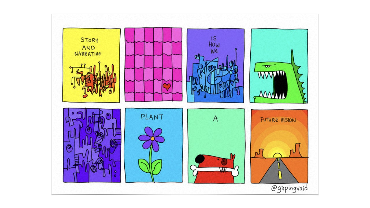 Storytelling is how we create future vision (@gapingvoid)